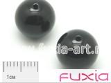 Черный Агат гладкий 14мм 5шт.